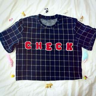 "Endless Rose ""Check"" Mid Crop Sz.S"
