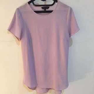 New Look - Purple Pink Long Shirt