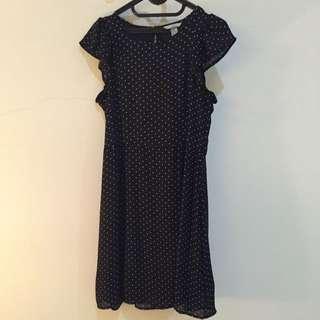 H&M - Polkadot Black Dress