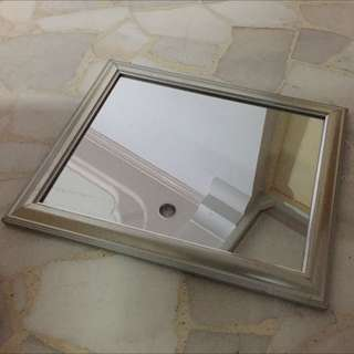 Silver Frame Mirror For Sale
