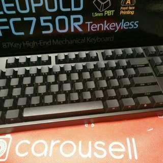 Leopold FC750R Mechanical Keyboard (Cherry MX Blue)