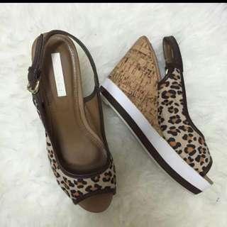 Vincci Leopard Wedges