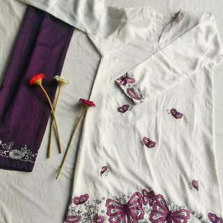 Bandung Sulam Butterfly - Tailor Made Baju Kurung Pesak