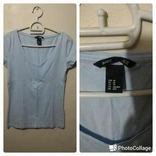 H&M Vneck Basic Tshirt