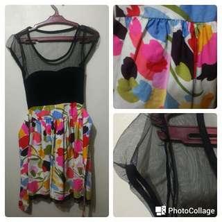 Semi Formal See Through Floral Dress