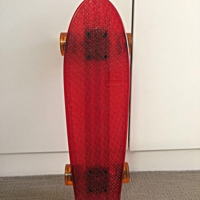 """24"""" Globe Bantam clear Skateboard/Cruiser"""