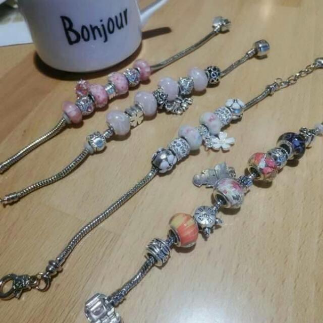 韓國民俗風水晶琉璃手工手環$280 有4款~戴起來好有氣質~