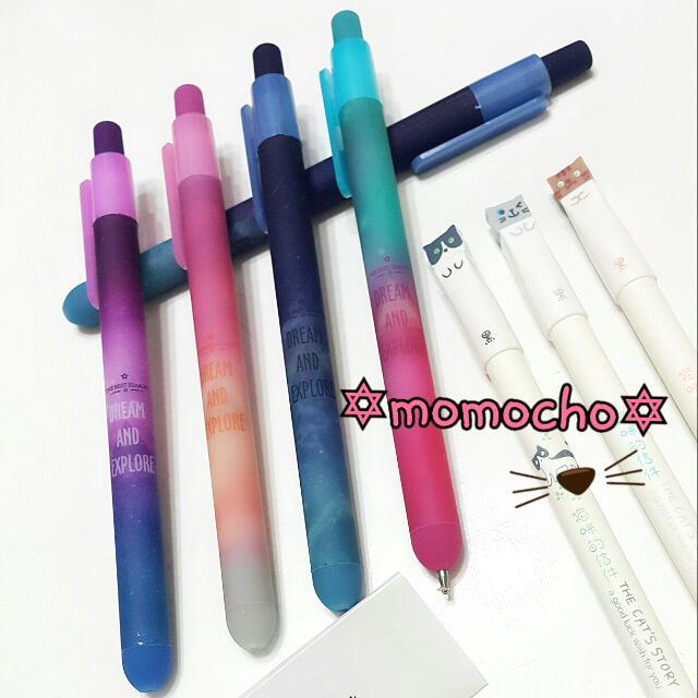 【全新】星空銀河筆原子筆可愛立體貓咪筆