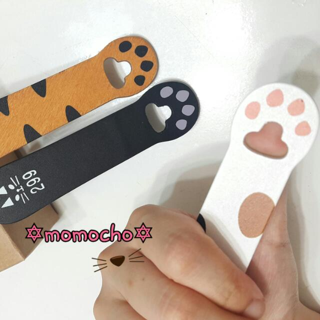 【全新】可愛貓咪肉墊木頭書籤