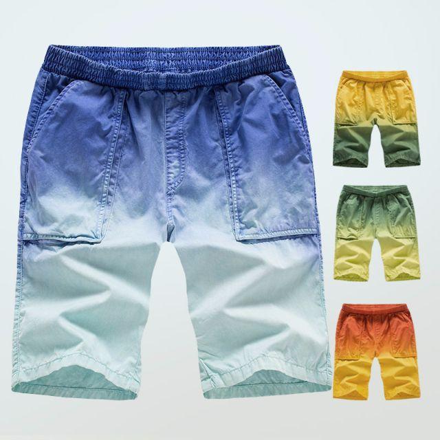 四色-漸層休閒短褲 海灘褲
