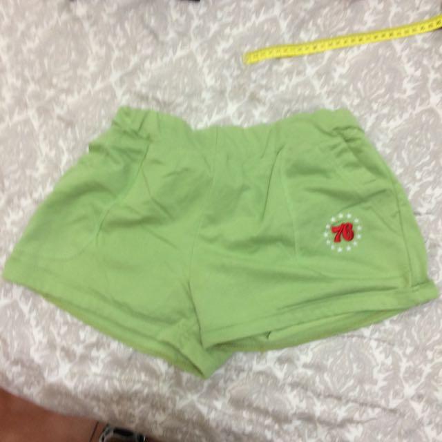 棉褲 蘋果綠