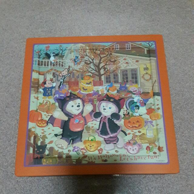 達菲熊    Duffy 萬聖節南瓜鐵盒