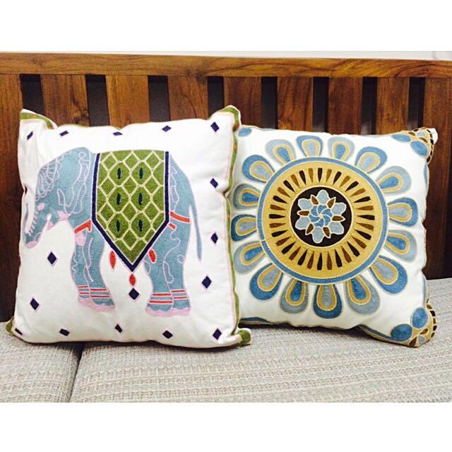 精緻提花方型靠枕 沙發抱枕 全新 含枕芯 45X45公分 可以單買也可以一起購買