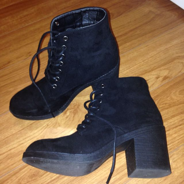 Black Ankle Boots Size 6