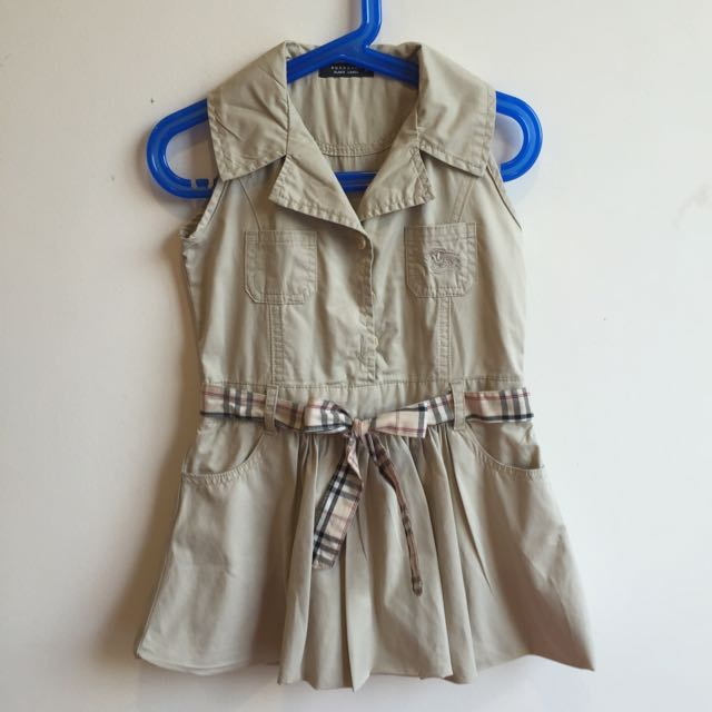 3ab4c1f4a8c2 Burberry Inspired Toddler Dress, Babies & Kids on Carousell