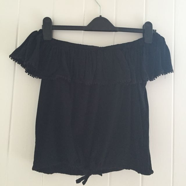 Casual Off The Shoulder Crop