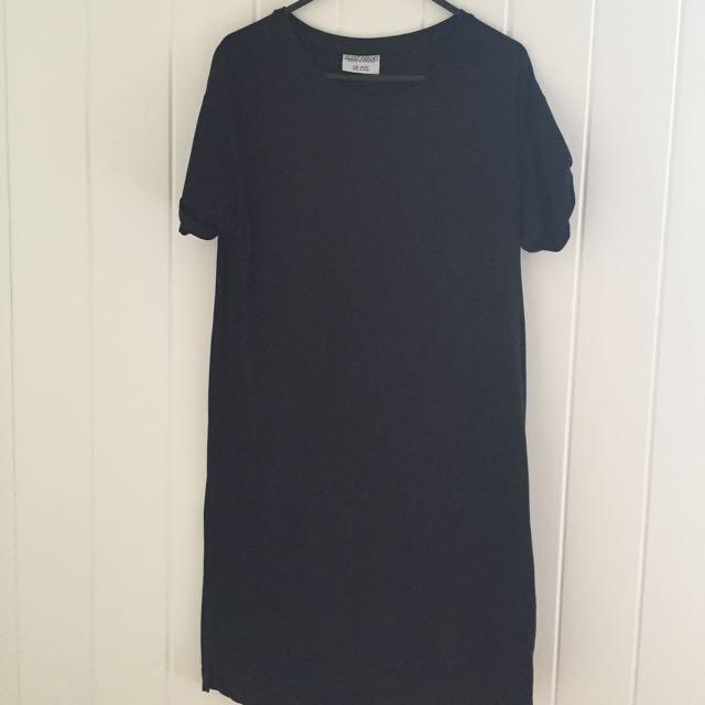 City Beach Black Tee Shirt Dress