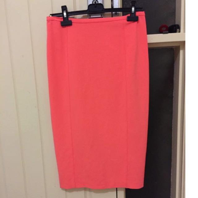 Country Road High Waist Midi Skirt