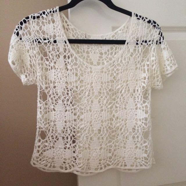 Crochet Ivory Top