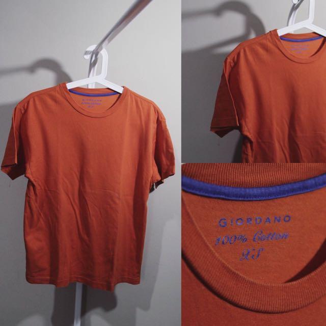 Giordano T-Shirt Orange