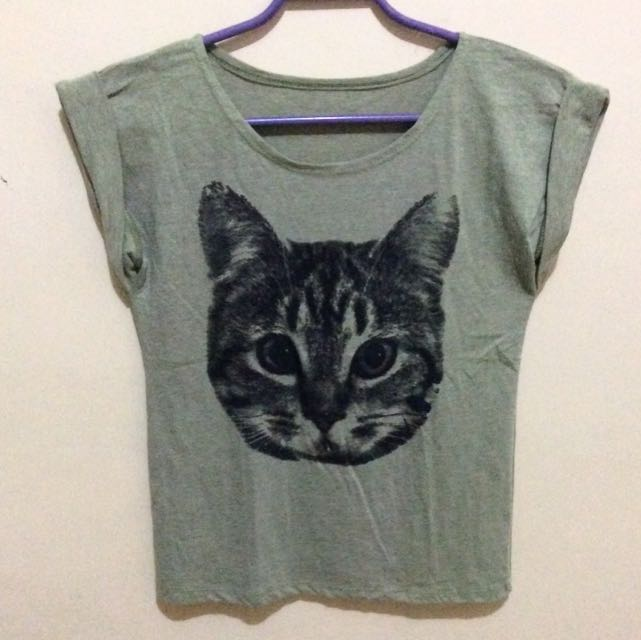 Green Cat Shirt
