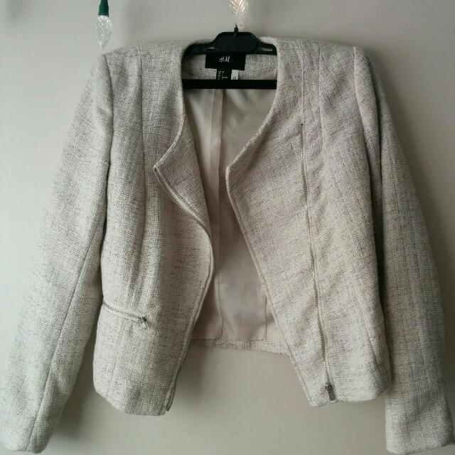 H&M Asymmetrical Tweed Jacket