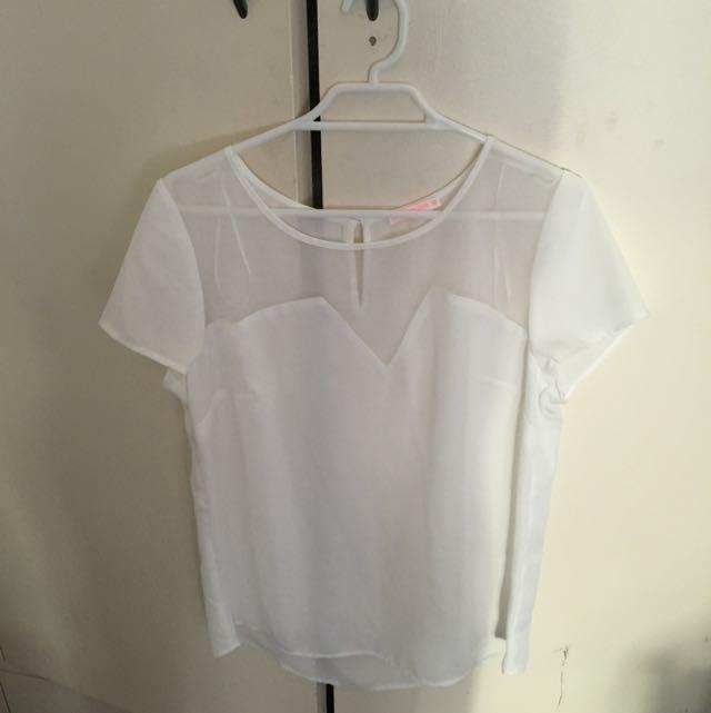 Hot Options Sheer Tshirt