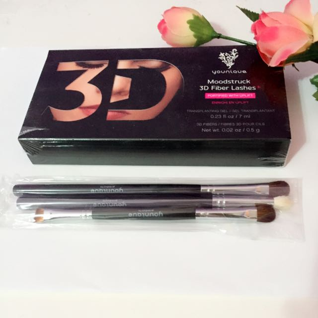 Moodstruck 3D Fiber Lashes+ & Younique Eye Brush Set