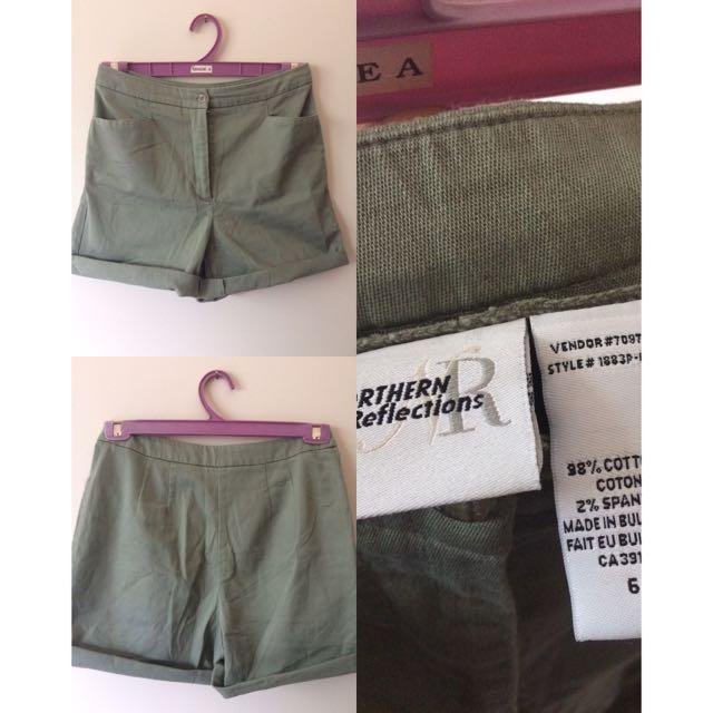 Northern Reflections Camo Green Shorts