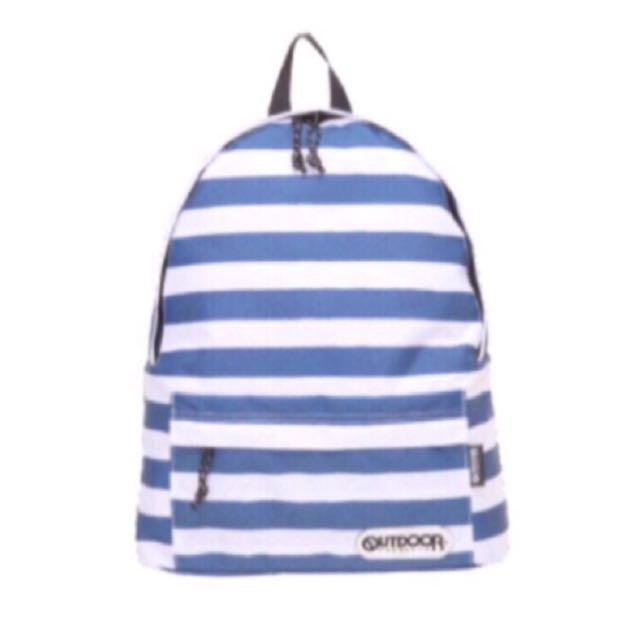 Outdoor 經典海軍風帆布後背包