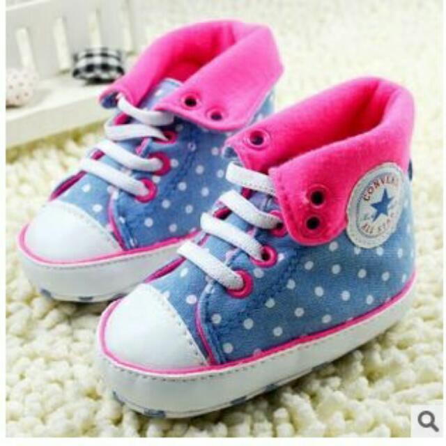 Sepatu anak bayi new born usia 0 - 6 bulan lucu dan keren untuk anak perempuan warna pink