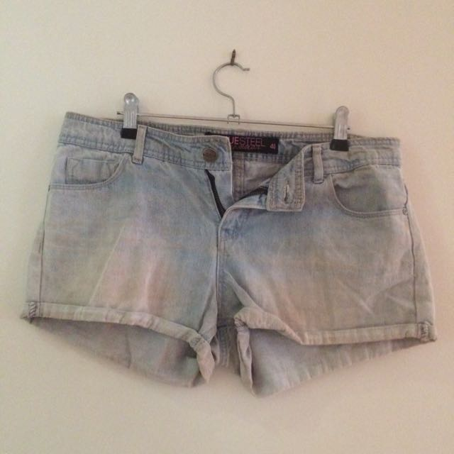 Size 40 'Bluesteel' Denim Shorts