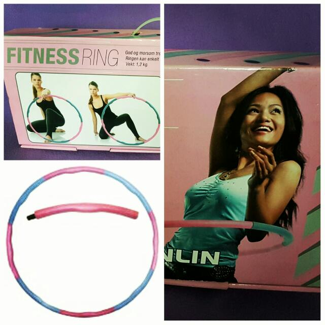 Sunlin Fitness Ring, Magnetic Massage Weighted Hula Hoop in Pink and Grey colors (used twice only; bought in Singapore)