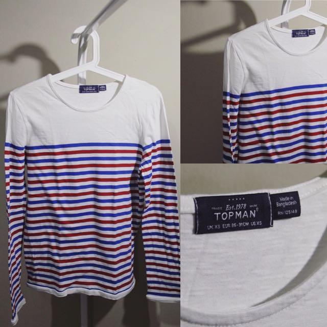 Topman Stripes Long Shirt