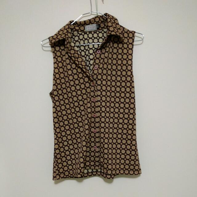 Vintage Collared Shirt - S