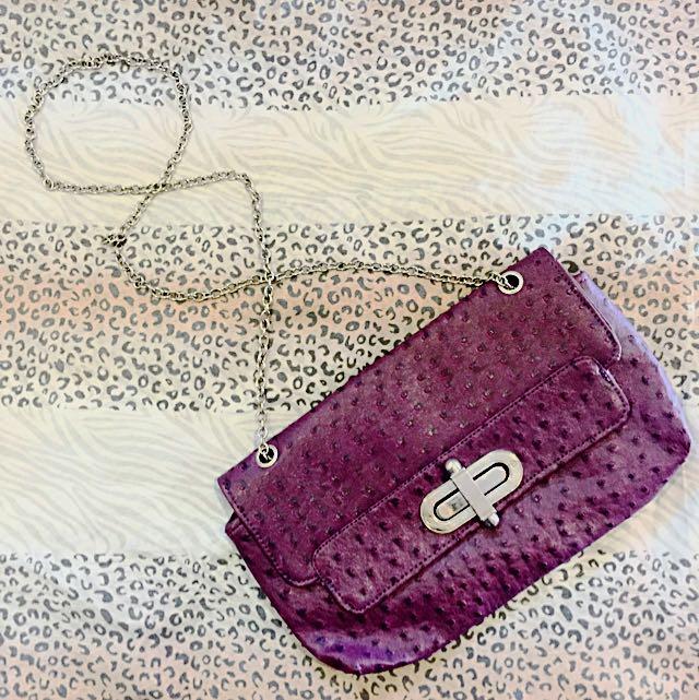 Violet Clutch Bag