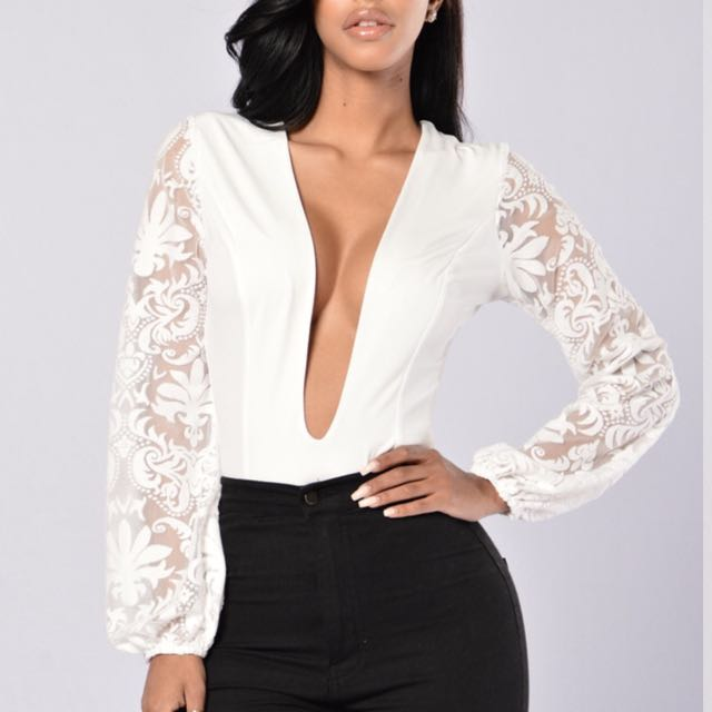 White Lace Body Suit