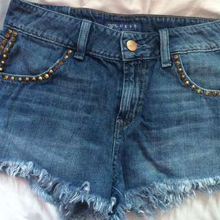 Guess High Waisted Jean Shorts