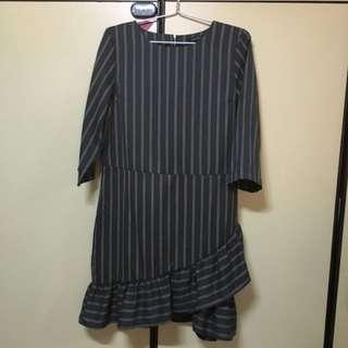BN Grey Pinstripe Office Work Dress