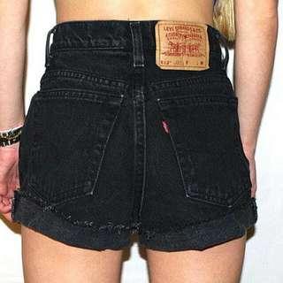 Preloved Black High Waist Shorts