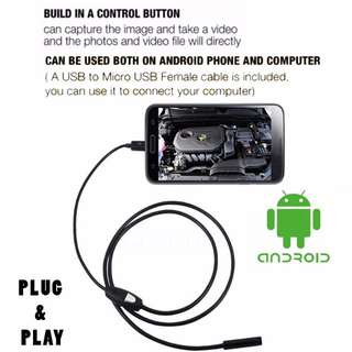 Endoscope USB Android Spy/Inspection Camera 1M (Waterproof)- Cash on Delivery Available