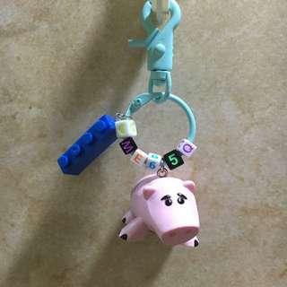 玩具總動員鑰匙圈 豬排博士