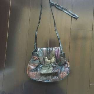 Vintage Purse With Butterfly