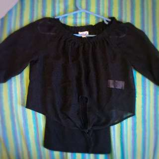 Shear Top With Black Undershirt
