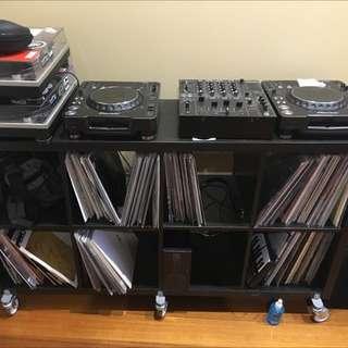 Mobile DJ Stand/Record shelf