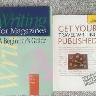 """""""Writing For Magazines A Beginners Guide"""" and """"Get Your Travel Writing Published"""""""