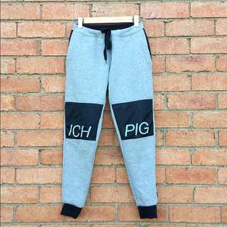 ICH PIG MESH-TECH TRACK PANT BLACK / GREY