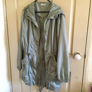 Coat with hoodie