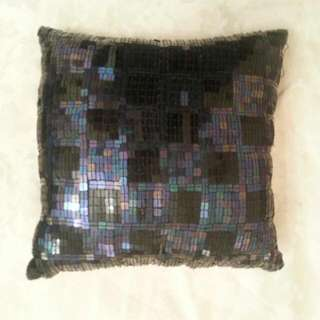 Black Sequined Cushion