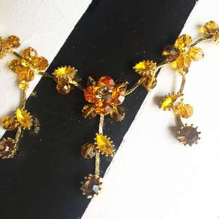 Necklace + Earrings Set, Amber colour